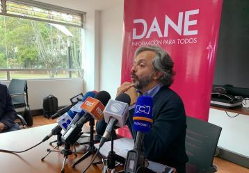 Juan Daniel Oviedo - Director del DANE. Foto: Sebastián Osorio.