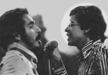 Foto: Willie Colón y Héctor Lavoe.