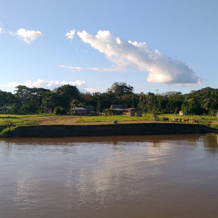 Puerto Ñeque, aquí se tejen las historias de los bufeos. Mauricio Orjuela.