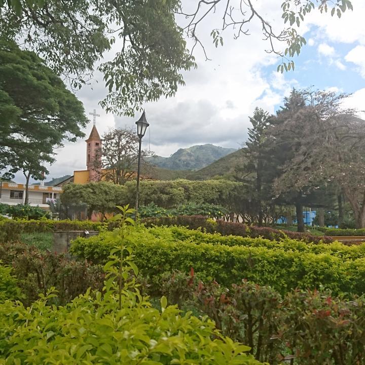 Parque Principal del Municipio de Planadas, al que pertenece el corregimiento de Gaitania.