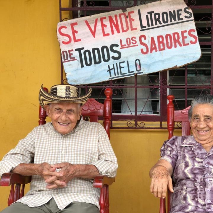 El maestro Joaquín Pablo Argel y su esposa María del Carmen Díaz. Foto: Laura Ramírez León.