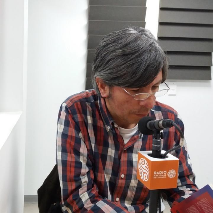 El poeta Mauricio Guzmán. Foto: Eduardo Otálora.