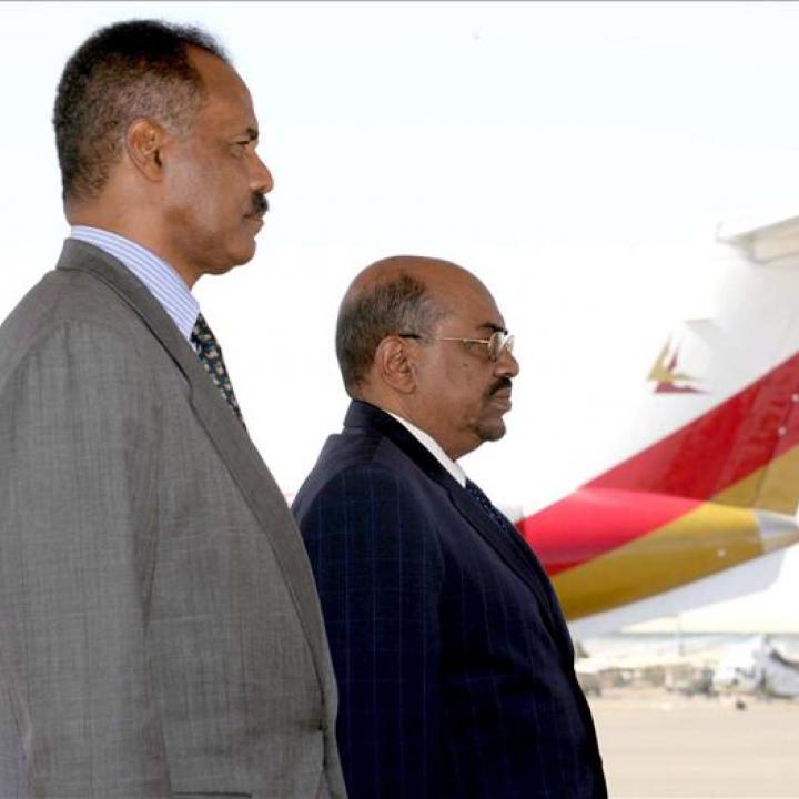El presidente de Eritrea, Isaias Afewerki (i). Foto: Archivo EFE