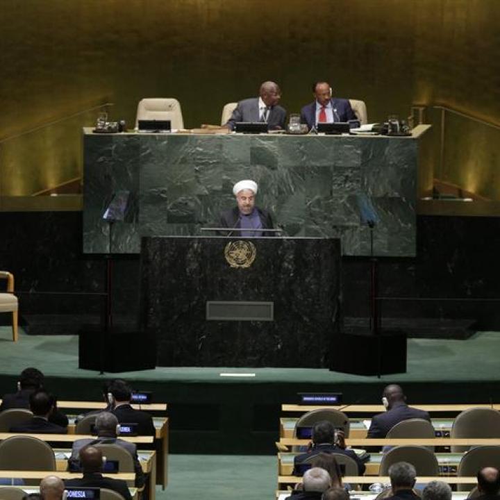 El presidente iraní, Hasán Rohani