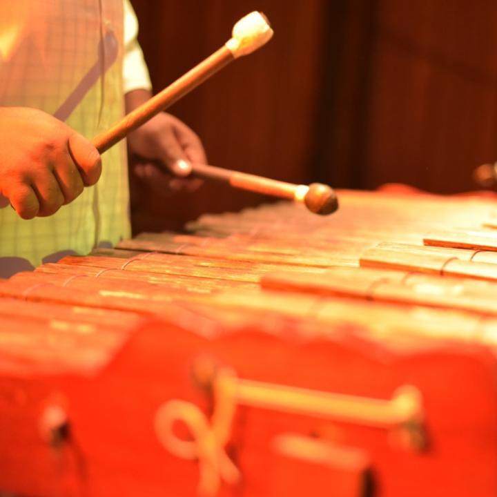 Marimba de chonta, instrumento tradicional del Pacífico colombiano. Foto: Cortesía Agrupación Tumacuba