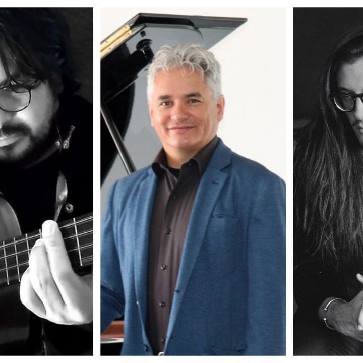 Los músicos Lucas Saboya, Jorge Pinzón y Santiago Cañón. Fotos: Fanpages Facebook de los artistas.