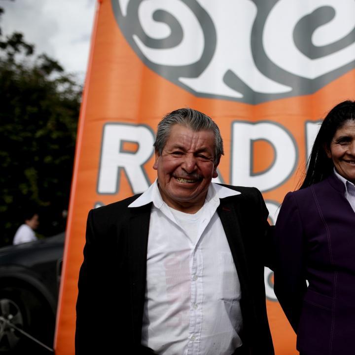 Luis Quintana y Eloísa Rojas, padres del ciclista colombiano Nairo Quintana. Foto: Sandro Sánchez.