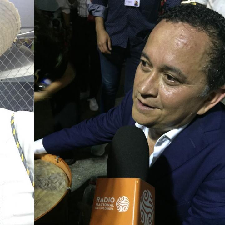 Fotografías del encuentro entre Baudilio Cuama y Yri Buenaventura en el marco del Festival Petronio Álvarez. Fotos: Luisa Piñeros.