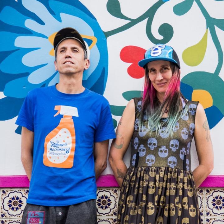 Héctor Buitrago y Andrea Echeverry, integrantes de Aterciopelados. Foto: Olga Carrillo Fotomx.