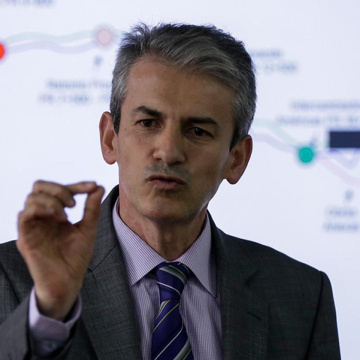 El director del Invías, Carlos García Montes.Foto: Colprensa. Junio de 2018.