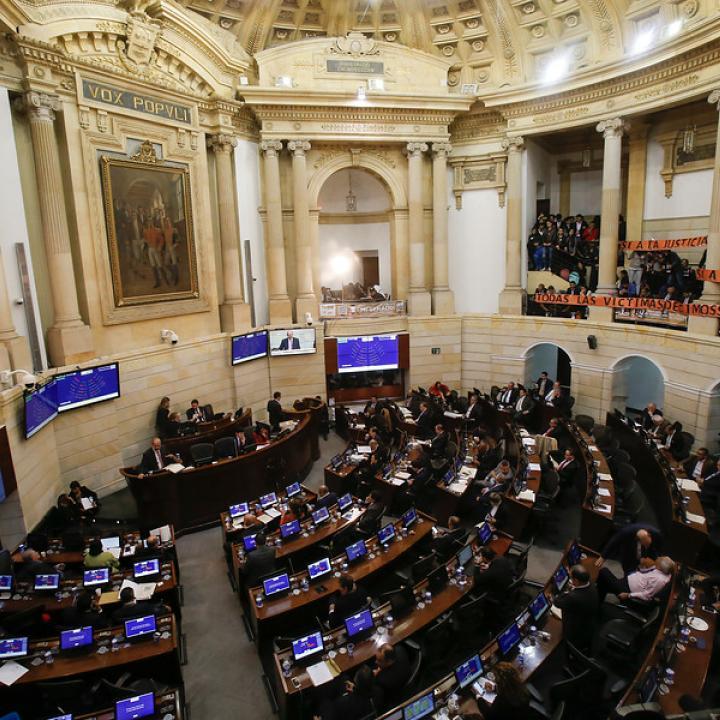 Plenaria del Senado. Foto: Colprensa