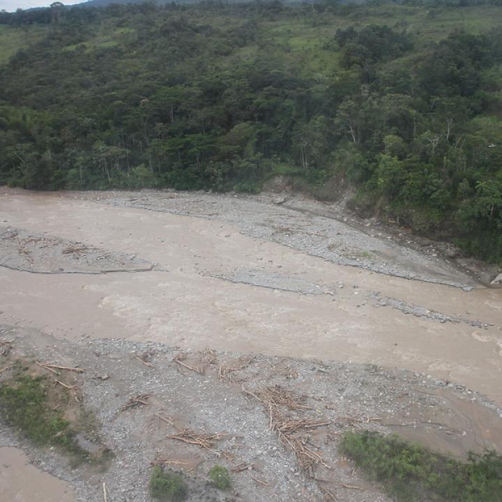 Imagen que dejó la avalancha ocurrida en Mocoa. Foto: Colprensa
