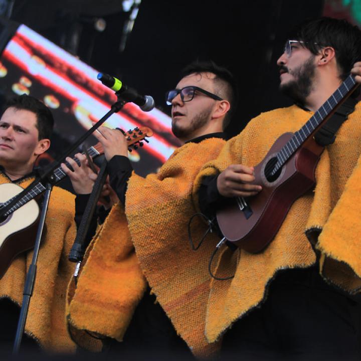 La agrupación de carranga Los Rolling Ruanas. Foto: Colprensa.