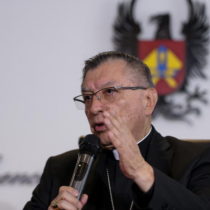 Monseñor Óscar Urbina, presidente Conferencia Episcopal.