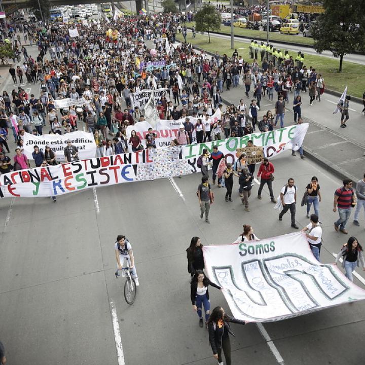 Recorrido de marchas de hoy en ciudades de Colombia | Radio Nacional de  Colombia