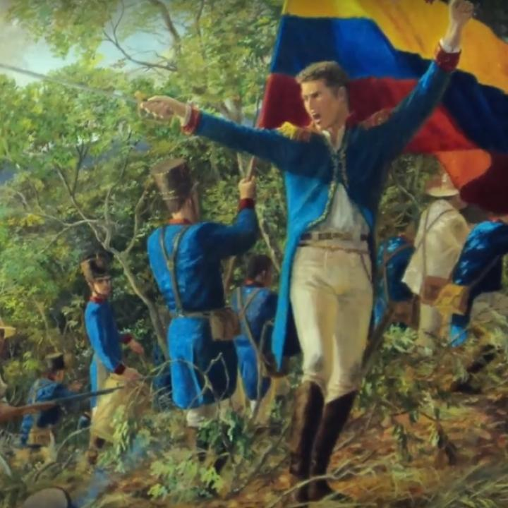 Foto: Captura de video YouTube 'Batalla de Chorros Blancos 1820' - Academia Antioqueña de Historia. de