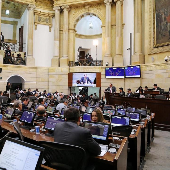Foto: Página web del Congreso de la República.