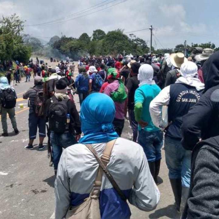 Foto: Cuenta de Twitter Consejo Regional Indígena del Cauca.