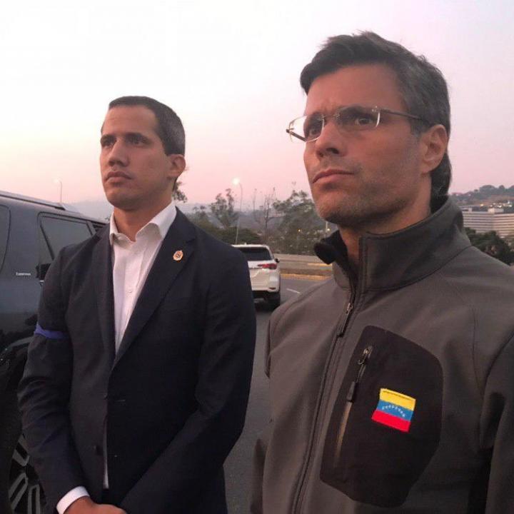 Liberación de Leopoldo López en Caracas. Foto: Twitter Leopoldo López.