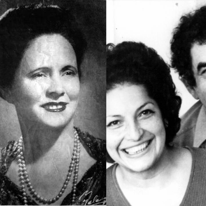 Amira de la Rosa, Flor Romero y Meira del Mar.