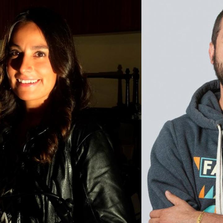 Luisa Piñeros, periodista musical de Radio Nacional de Colombia y Diego Maldonado, gerente de One RPM