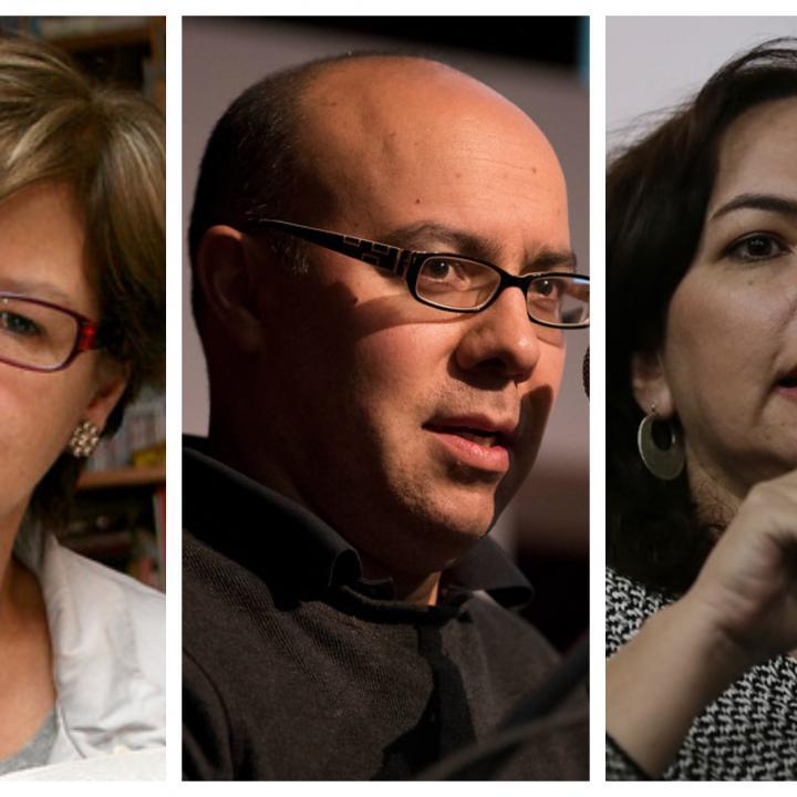 Piedad Bonnet, Ricardo Silva Romero y Adriana Villegas, alguno de los invitados a la Feria del Libro de Manizales este año. Fotos: Colprensa.
