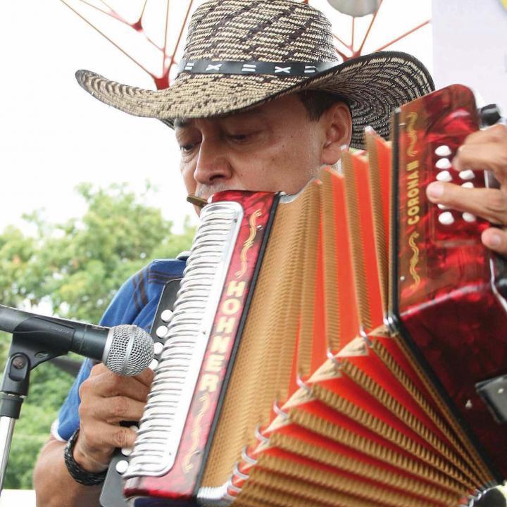 Acordeonero del Festival de la Leyenda Vallenata. Foto: Archivo Colprensa