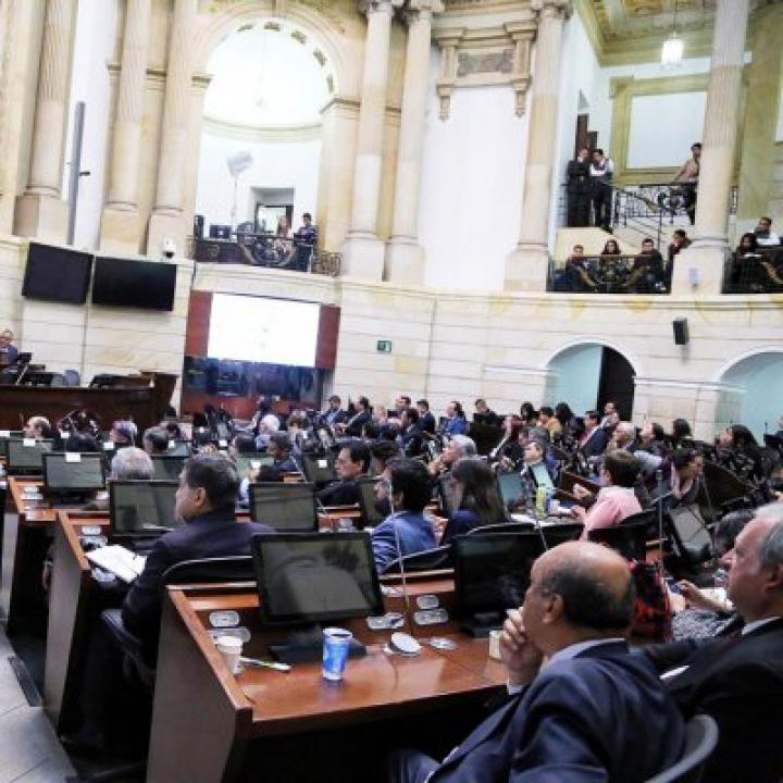 Foto: Cuenta de Twitter Senado Colombia.