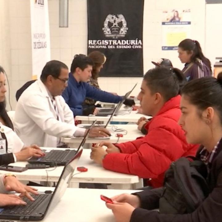 Foto: Twitter Registraduría Nacional de Estado Civil.