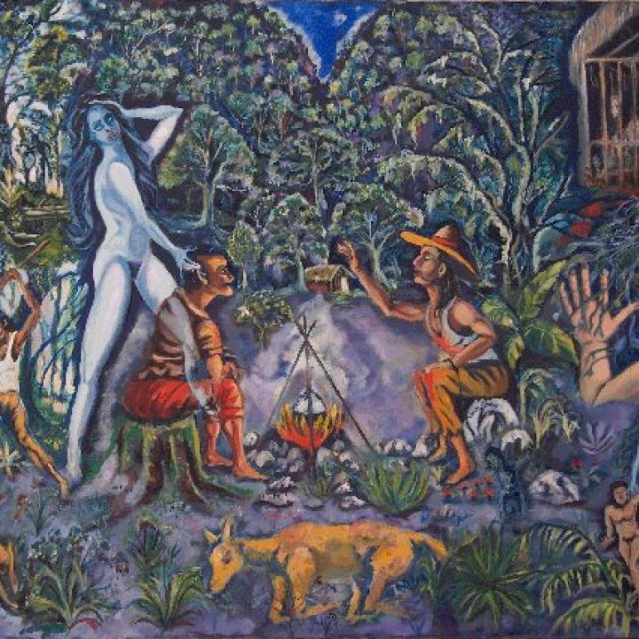 """Pintura: """"La madremonte"""" de Luís Alejandro Rincón"""