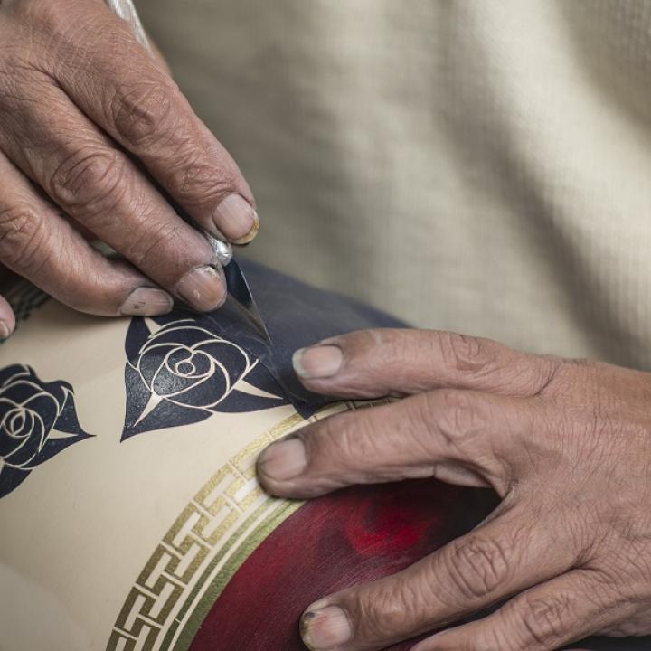 Foto cortesía: Artesanías de Colombia. Maestro Gilberto Granja. Miércoles 6 de junio.