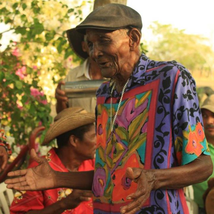 El veretano bullerenguero de Gamero, Bolívar, Magín Díaz. Foto: Fanpage Facebook Magín Díaz y el Sexteto Gamerano.