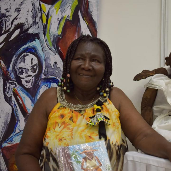 La poeta y escritora Mary Grueso es orirunda del municipio de Guapi (Cauca). Foto: Miguel Ángel Cortés.