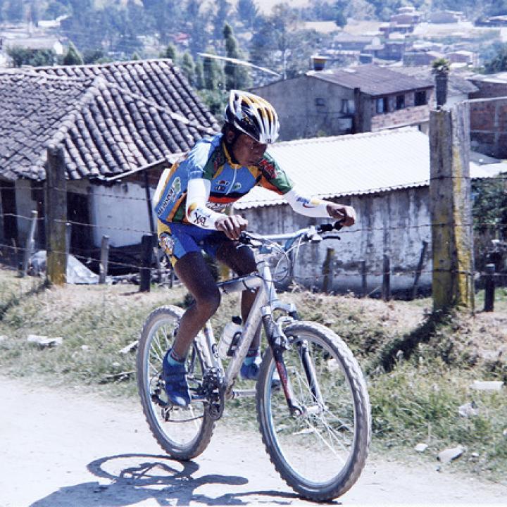 El ciclista boyacense Nairo Quintana en sus inicios.