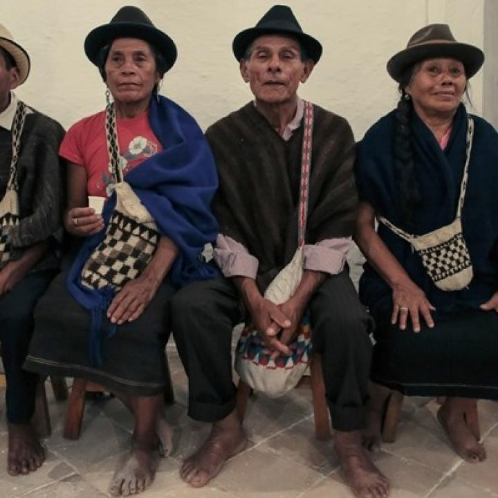 Comunidad Nasa del Cauca. Foto: Ministerio de Cultura.