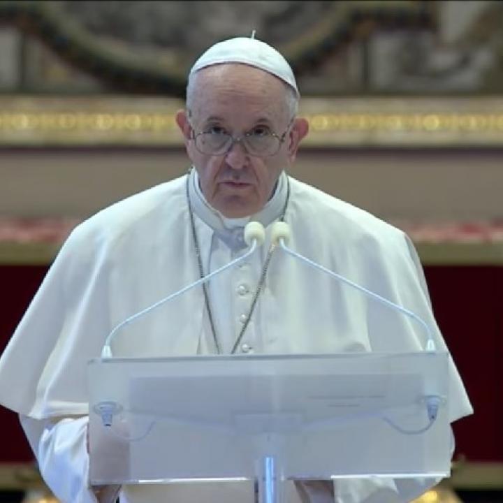 Foto: Captura de transmisión Vatican News