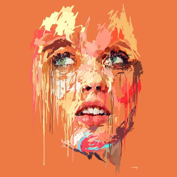 Pinkwo-Pintura digital sobre lienzo. Marcello Castellani