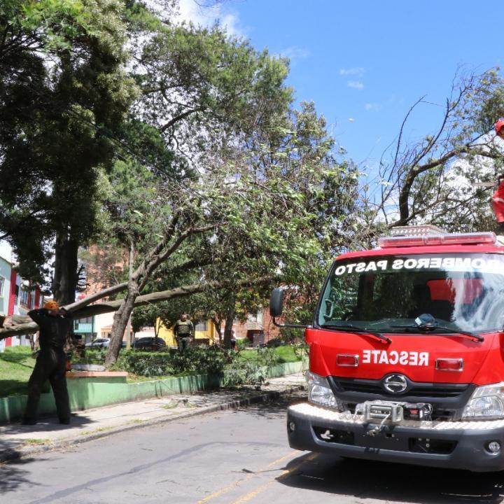 Foto: Cuerpo de Bomberos Voluntarios de Pasto.