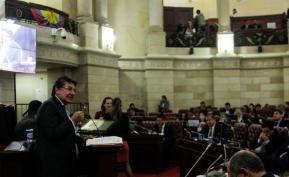 Debate de la justicia especial para la paz. En la foto: Néstor Humberto Martínez, fiscal General de la Nación. Autor: Colprensa.