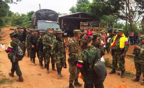 Guerrilleros en proceso de concentración en zonas veredales. Foto: Colprensa