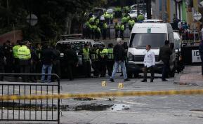 En el barrio la Macarena junto a la Plaza de Toros de la Santamaría, se presentó la explosión de un petardo que dejó heridos a 11 policías y daños materiales en edificaciones. Foto: Colprensa